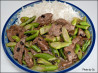 Sliced Beef With Black Beans & Chinese Broccoli on Rice. Recipe by Skipper/Sy