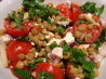 Lentil Feta Salad. Recipe by Katzen