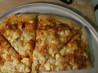 Buffalo Sweet Potato & Blue Cheese Pizza. Recipe by tyk