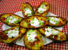 Yummy Baked Potato Skins. Recipe by CrAzYcOoKeR222