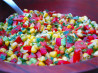 Raw Vegan Zesty Lime Corn Salad. Recipe by The Blender Girl