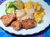 Macadamia Chicken With Orange-Ginger Sauce and Coconut Pilaf. Recipe by CaliforniaJan