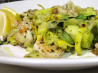 Green & Yellow Squash 'linguini' W/ Shrimp Scampi. Recipe by esactress