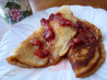 Dee's Applesauce Sour Cream Pancakes. Recipe by Dienia B.