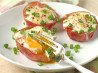 Baked Egg in Ham Cups With Parmesan and Green Onion. Recipe by Ambervim