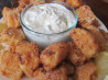 Southern Fried Mud Puppies W/Jalapeno Ranch Tartar Sauce #RSC. Recipe by Wildflour