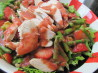 Chicken and Asparagus Salad with Strawberry Dressing. Recipe by ratherbeswimmin'