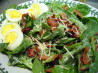 Spinach Salad with Mustard-Bacon Dressing. Recipe by evelyn/athens