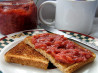 Really Easy and Good Sugar-Free Strawberry Jam/Spread. Recipe by Kittencalskitchen