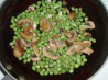 Peas, Mushrooms, and Scallions. Recipe by Helping Hands