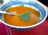 Moroccan Spiced Squash and Carrot Soup. Recipe by Miraklegirl