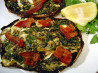 Savory Stuffed Portabellas. Recipe by Sue Lau