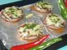 Mexican Stuffed Mushrooms. Recipe by Sue Lau