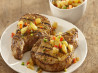 Grilled Spiced Brandy & Herb Pork Chops With Pineapple Salsa. Recipe by McCormick Kitchens