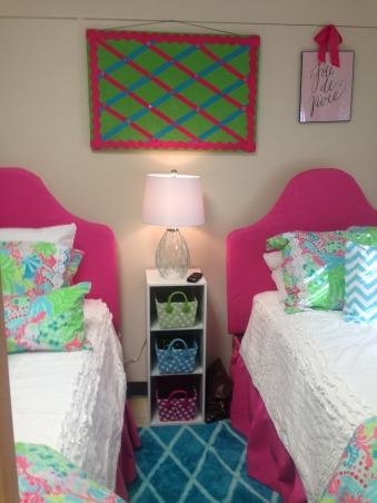 "The ""Lilly""pad, Collins Dorm Baylor University, Upholstered headboards, Dorm Rooms Design"