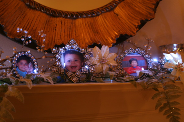 What's old is new again!, Our 1925  home decorated for 2008, Used old frames,but added pictures of our 3 grandsons.  , Living Rooms Design