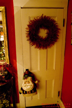 The Foyer at Christmas, Foyer of our 1856 Farm house, decorated for the holidays.   See more on my blog at http://www.shoot-scoop.com., Doorway , Other Spaces Design