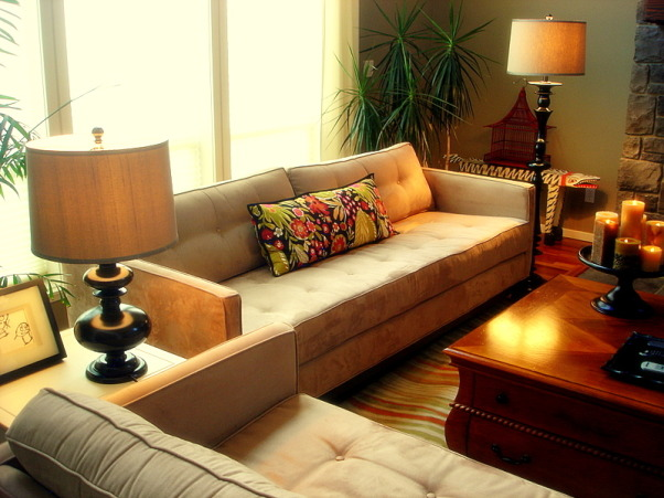 Warm Family Room - Repost, Our inviting family room, a great place to relax. Thanks HGTV, Angelo as well as Noah and Shelly for picking our room and fireplace as an inspiration room for your room makeover. I hope you are enjoying your gorgeous bedroom! Janell, Lots of comfortable seating, Living Rooms Design