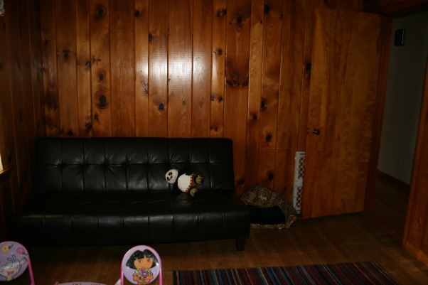 TV/Game Room, This is the kids TV/game room.  This room is in desparate need of something.  I don't know what to do with it.  , Leather Sleeper Sofa in TV Room, Media Rooms Design