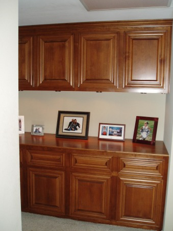 Hall cabinet, Hallway linen cabinet, My husband made and installed this cabinet in the hallway.  We took out a coat closet and a linen closet that were next to each other. , Other Spaces Design