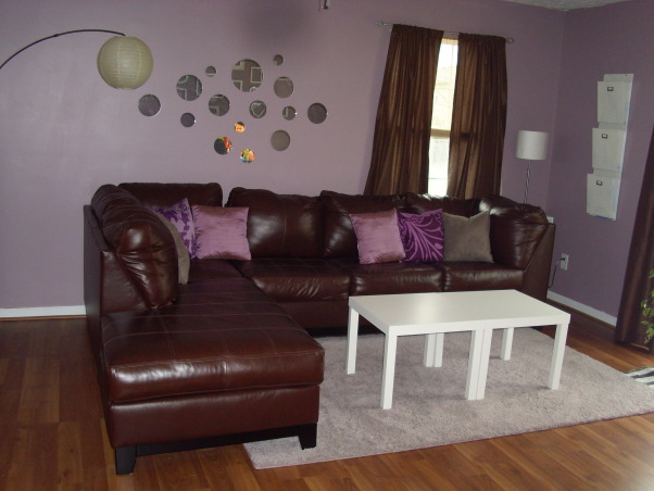 Information about rate my space questions for Purple brown living room