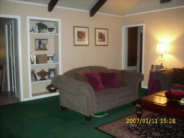 Information about rate my space questions for for Green carpet living room ideas