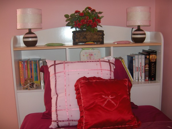 8 year old simple bedroom, We painted my daughter's room last year for her birthday the color she wanted. I still need couple frames but I'l take my time until I find the right ones., Red pillow was made by a friend of mine.  , Girls' Rooms Design