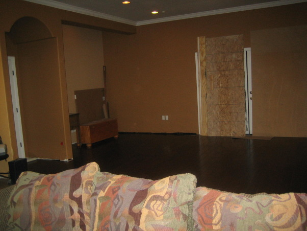 Family/Game Room, Large open space that has a small area for a family room which leads into a game room, Game room area as you are looking from the family room, Living Rooms Design