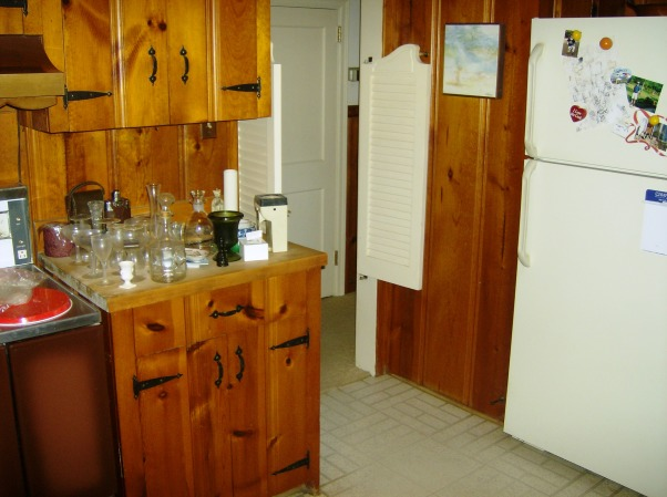 Cape Cod Knotty Pine Kitchen Small Kitchen Side Breakfast Nook And