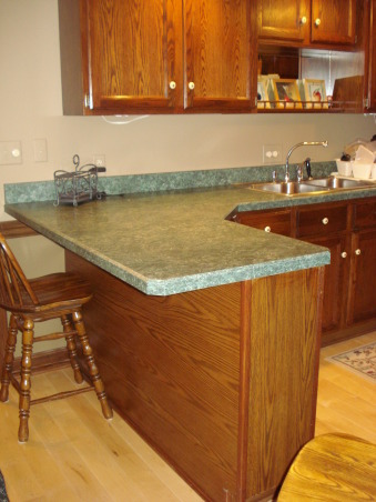 22 year old kitchen update, Updated kitchen by painting cabinets, adding wainscoting, crown and lower cabinet moldings, new laminate counter top and stainless appliances along with tumbled marble backsplash., Before, Kitchens Design