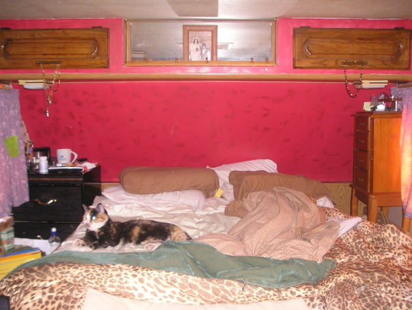 CLUTTERED, 36' FIFTH WHEEL TRAILER THAT IS MY HOME AND WHERE I LIVE AT THE PRESENT TIME. PLEASE JUST HELP ME WITH IT.  THANK YOU. unfinished,cluttered space thats small, bad bedroom   , Living Rooms Design