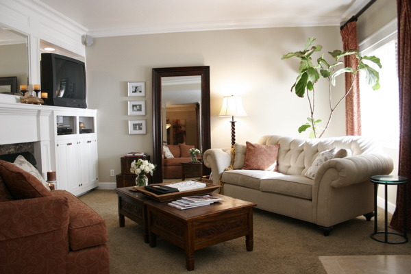 Classic Eclectic Traditional Living Room, This is the remodeled living room of my generic 90s Southern California condo.... Goodbye formica-fronted wetbar!, classic traditional with an eclectic twist... , Living Rooms Design