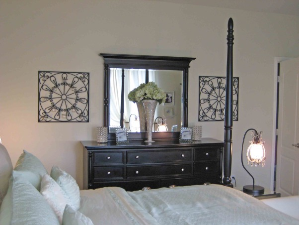 Glamorous Master Bedroom on a Budget, This is my glamorous master bedroom created on a strict budget.  With a little craftiness and a lot of imagination, I was able to creat a relaxing space with a little bit of Hollywood glam influence., Bedrooms Design