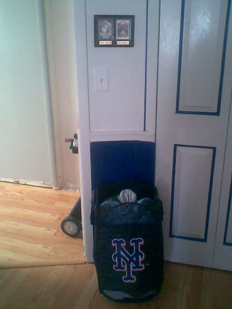 Met's Inspired Bedroom, My entire family and I are devoted Mets fans, so when I want to remodel the boys' bedroom I deiced to you the Mets as a theme. , Boys' Rooms Design