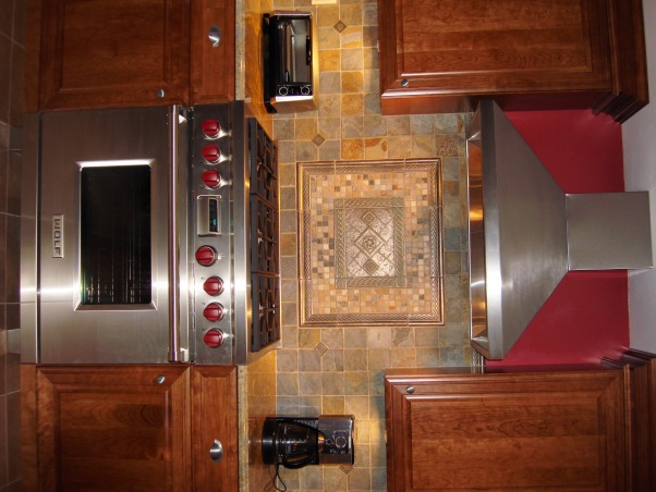 Mama Mia's Cucina, My kitchen is for Mia's Mama, which is me! I am totally in love w/my kitchen, I still can't believe it's mine!!!, This is the showstopper!!! I truly love this stove, it was worth every penny. It truly is a work of art with the mural above. , Kitchens Design