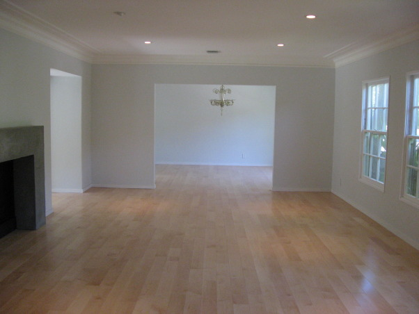 Living/Dining Room, Newly-finished renovation.  Excuse the lack of furniture.  We are working on it., AFTER, Living Rooms Design
