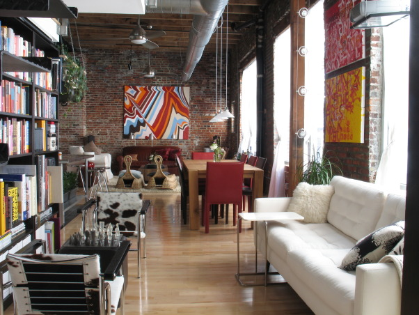 Philadelphia Loft Living Space, Urban living space in downtown Philadelphia (reposted with extra shots !!)., Philadelphia Loft  , Living Rooms Design