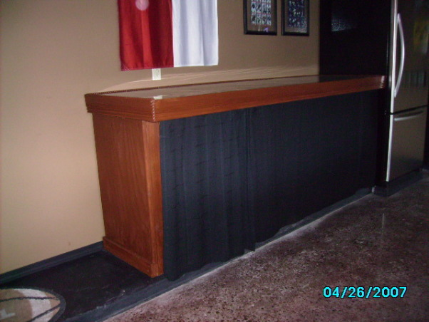 Garage Game Room, Our house didn't have a game room, so we made our garage into one., we handmade the bar   the curtain in front opens in the middle hiding the usual garage items   we glaze coated the top of the bar for extra oomph, Garages Design