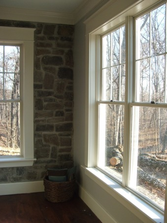 Stoney Side before & after, My home is located on wooded land w/ a colonial-farm house exterior look, interior was a train wreck until our remodel this past year and still going strong. , before, Living Spaces