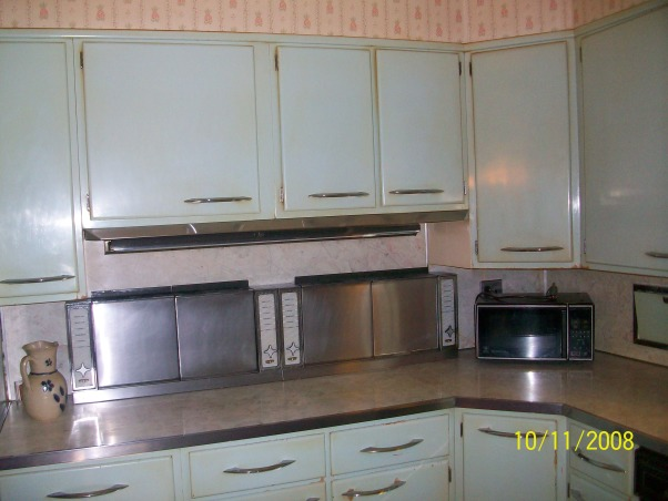 1955 Kitchen, Original 1955 kitchen- We need help to keep the retro style, but update the functionality., The burners that flip down, and then fold back up again. , Kitchens Design