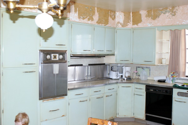 1955 Kitchen, Original 1955 kitchen- We need help to keep the retro style, but update the functionality., Original 1955 Kitchenmaid kitchen. The burners are along the wall, and flip down for use. The oven is a french door, custom- made model.  , Kitchens Design