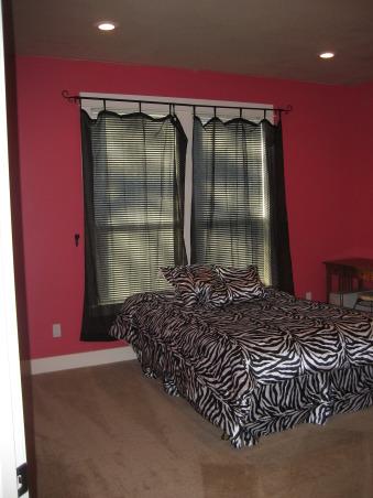 zebra bedroom, Hot pink walls with zebra print bedding, teen girls' bedroom, Girls' Rooms Design