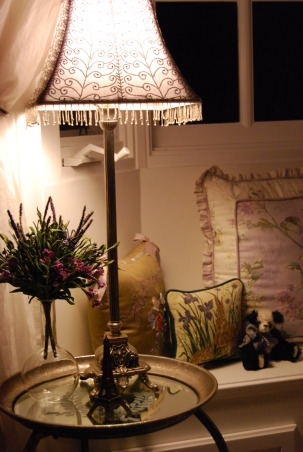 A Whisper of Lavender, I wanted this to have French flair!! , The small glass vase,to the left was bought in Paris., Girls' Rooms Design