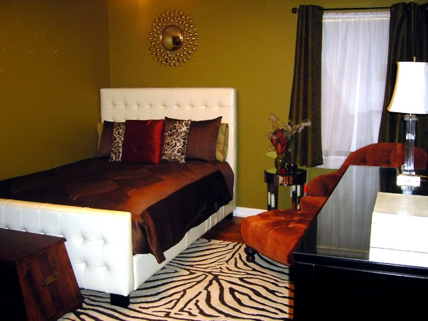 jungle chic, colorful, fun and glam on a shoestring budget, after a year, i'm still in LOVE with this bed!, Bedrooms Design