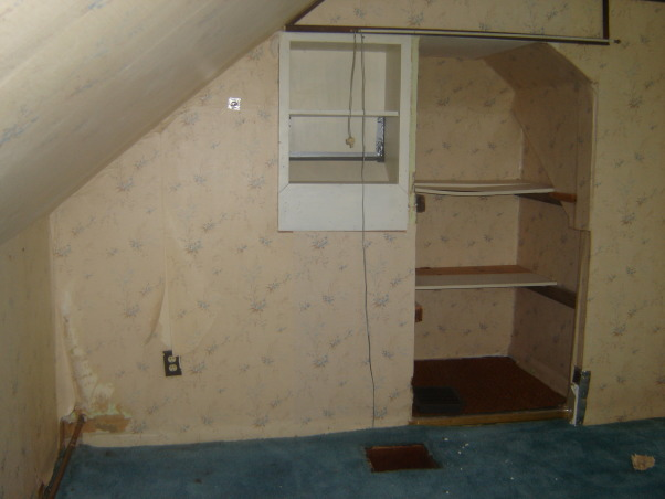 Bedroom Reno, This is part of the master bedroom when I bought my home. It had multi wall depths, a horrible semi plumbing job in the room to the right, and the last owner left a pice of cabinetry up against the one wall., This is the worst wall of the bedroom, Bedrooms Design