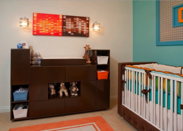 Retro Modern Nursery in OC Residence by Little Crown Interiors, Interior Design by Little Crown Interiors Photography by Full Spectrum Photo Studio, Interior Design by Little Crown Interiors Photography by Full Spectrum Photo Studio, Nurseries Design