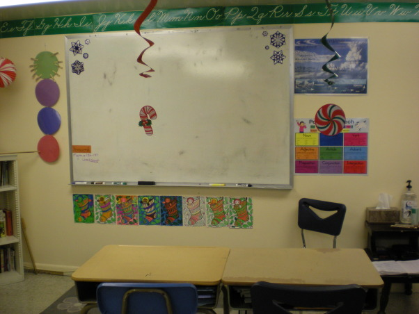 My Fourth Grade Classroom, This is my first year teaching and this is my classroom so far this year!!, The whiteboard!, Other Spaces Design