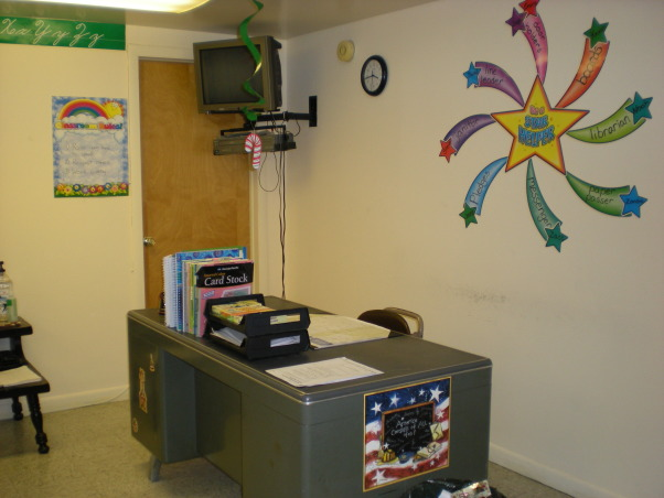 My Fourth Grade Classroom, This is my first year teaching and this is my classroom so far this year!!, My desk, every teacher needs one!, Other Spaces Design