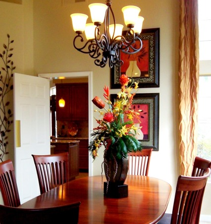 """Dine on a Dime"" Living/Dining B&A's, This dining room was white and lifeless before. Inexpensive changes really dressed it up., AFTER   , Dining Rooms"