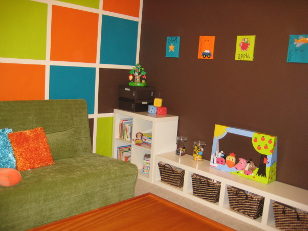 Children's Retreat Playroom, A space designed just for my two little kiddos to be inspired, imaginative, and creative. , Oraganization was key here. Each toy has it's own storage place - books, puzzles, blocks, cars, ducks, etc. , Other Spaces Design
